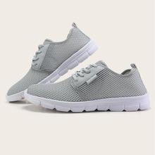 Maenner Sneakers mit Band vorn und weiter Passform