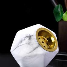 1pc Marble Pattern Ceramic Incense Burner