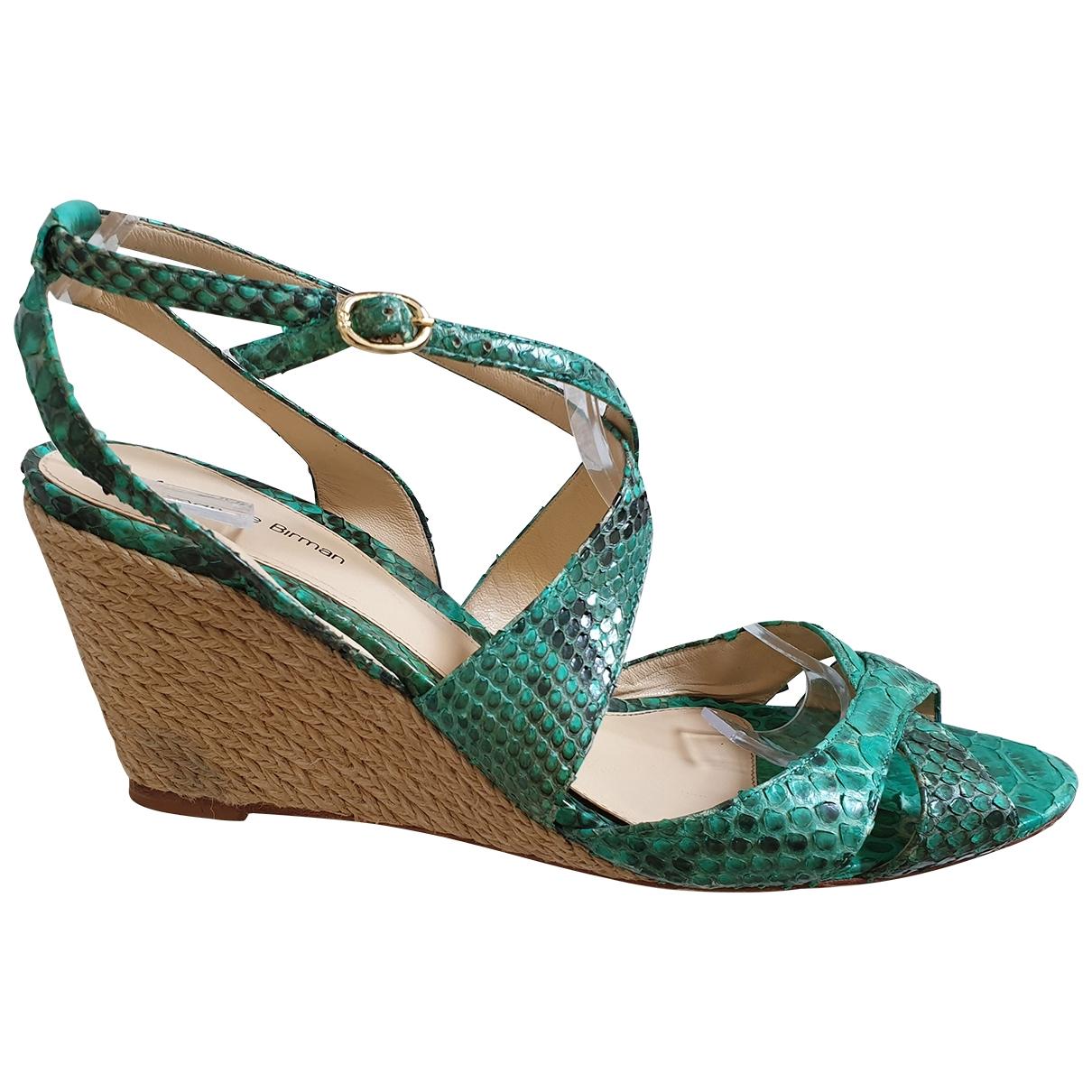 Alexandre Birman - Sandales   pour femme en python - vert