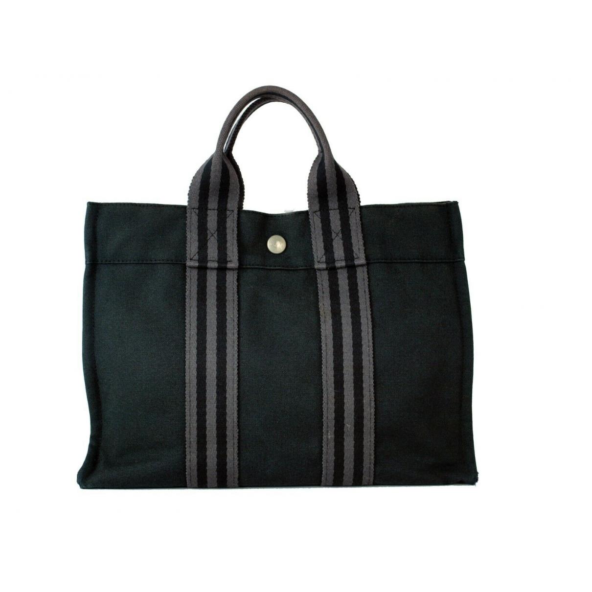 Hermes \N Handtasche in  Schwarz Baumwolle
