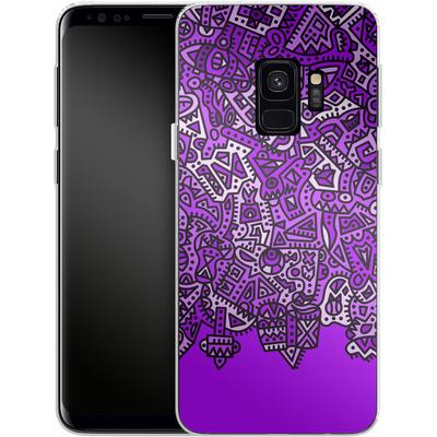 Samsung Galaxy S9 Silikon Handyhuelle - Violet Black von Mattartiste