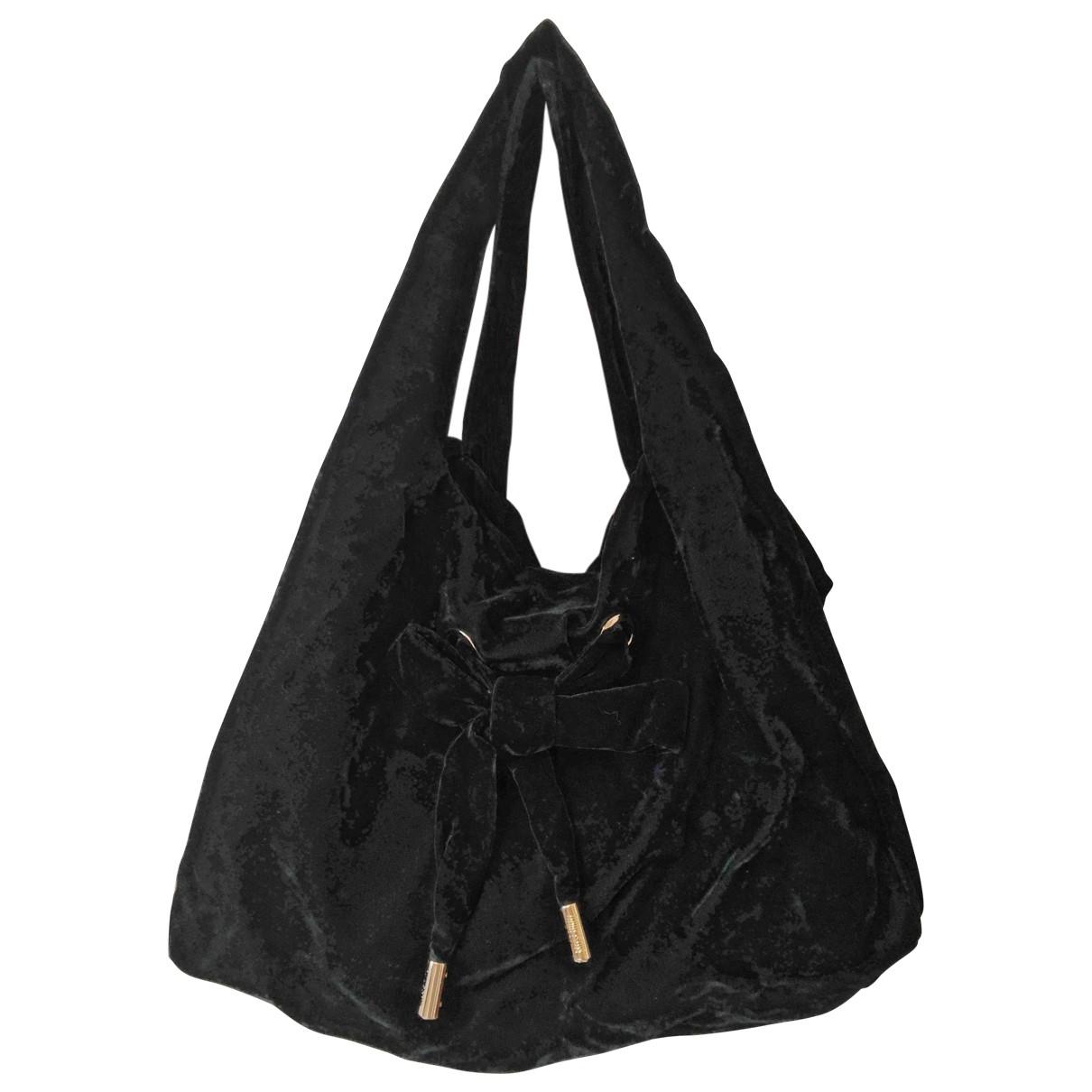 Moschino Love \N Black Velvet handbag for Women \N