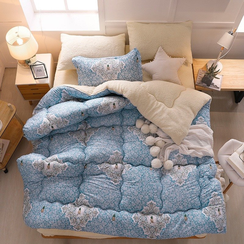 3Kg Thicken Shearling Blanket Winter Soft Warm Bed Quilt for Bedding Twin Full Queen King Size