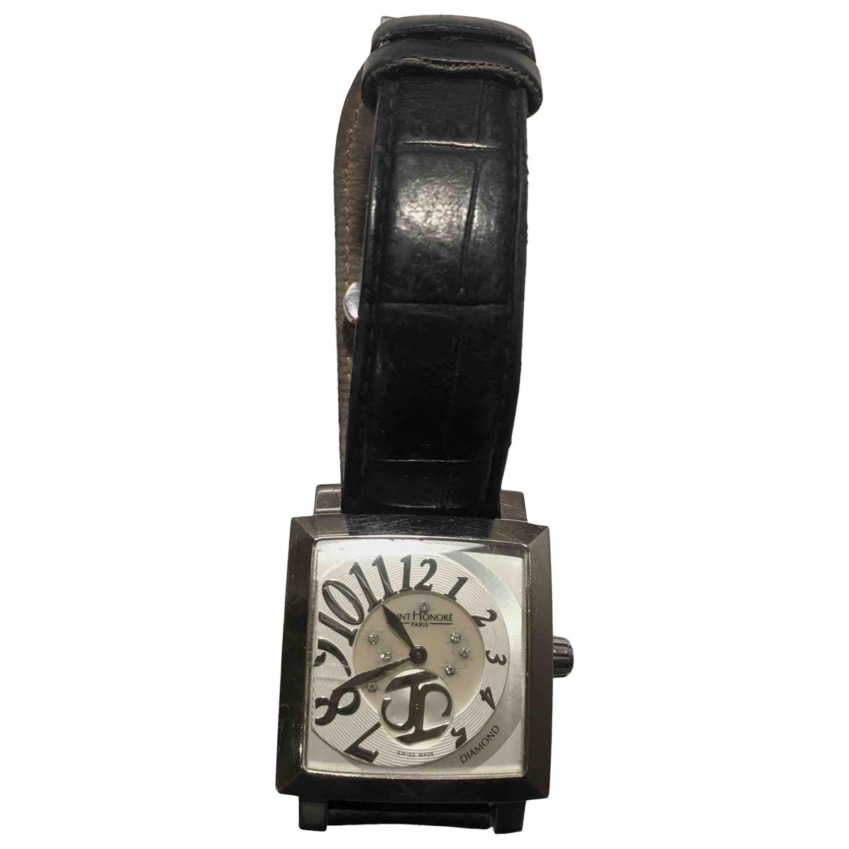 Saint Honore \N Uhr in  Schwarz Stahl