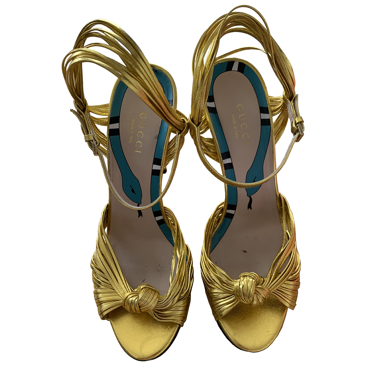 Gucci \N Gold Leather Sandals for Women 36.5 EU
