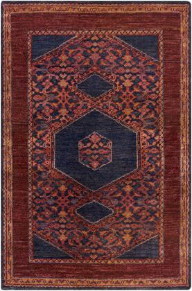 Haven HVN-1216 2' x 3' Rectangle Traditional Rug in Burgundy  Dark Purple  Burnt Orange  Dark Red  Dark Blue