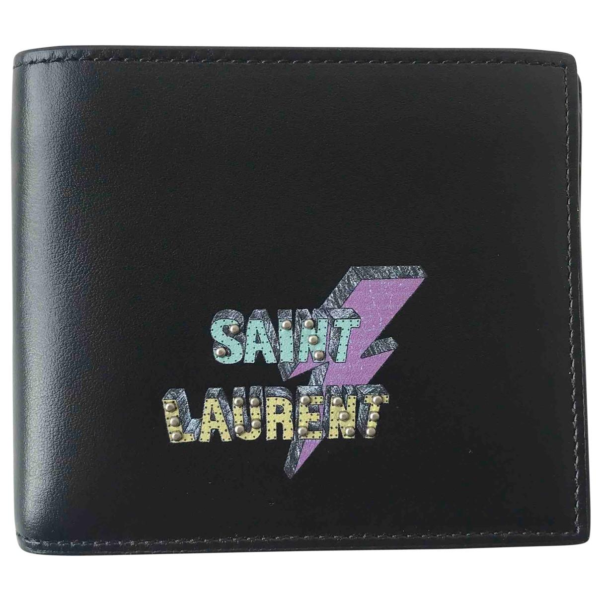 Saint Laurent - Petite maroquinerie   pour homme en cuir - noir