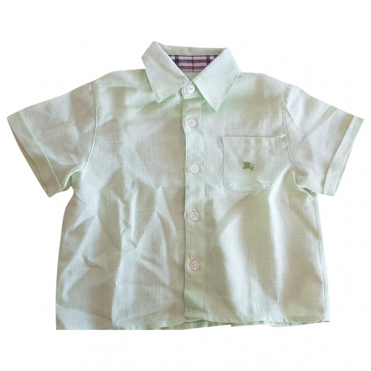 Burberry - Top   pour enfant en lin - vert