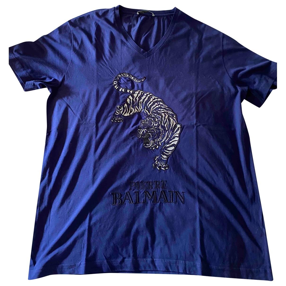 Pierre Balmain \N Blue Cotton T-shirts for Men XXXL International