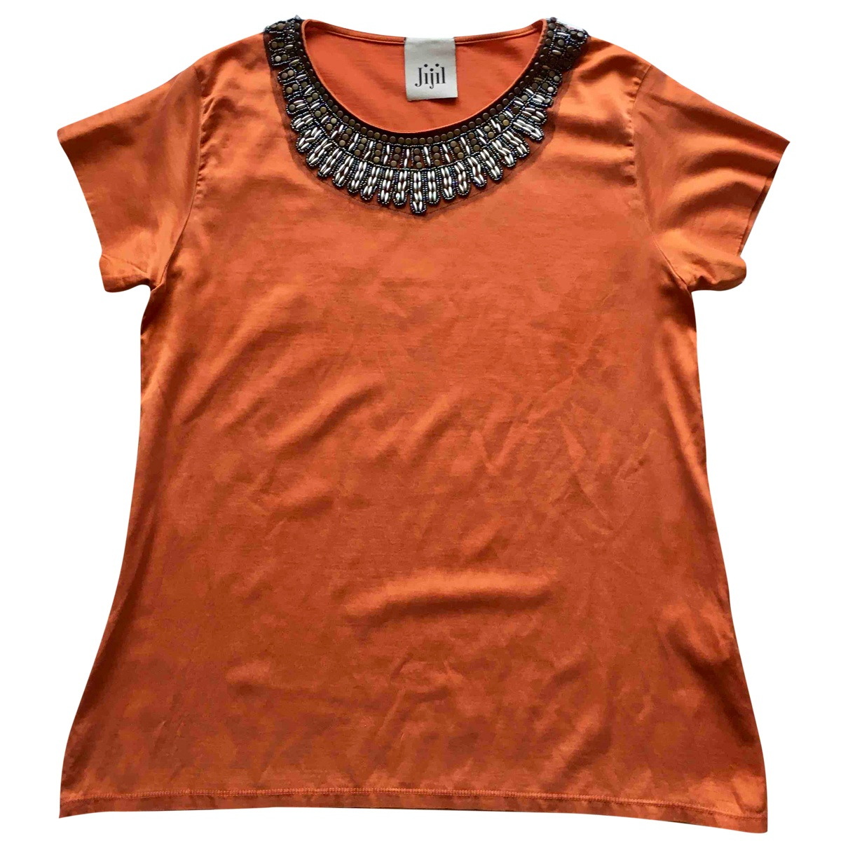 Jijil - Top   pour femme en coton - orange