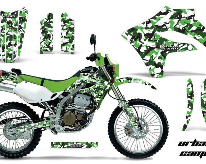 AMR Racing Dirt Bike Graphics Kit MX Decal Wrap For Kawasaki KLX250S 2004-2007áURBAN CAMO GREEN