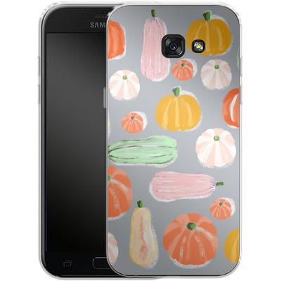Samsung Galaxy A5 (2017) Silikon Handyhuelle - Pumpkin Pattern Grey von Mukta Lata Barua