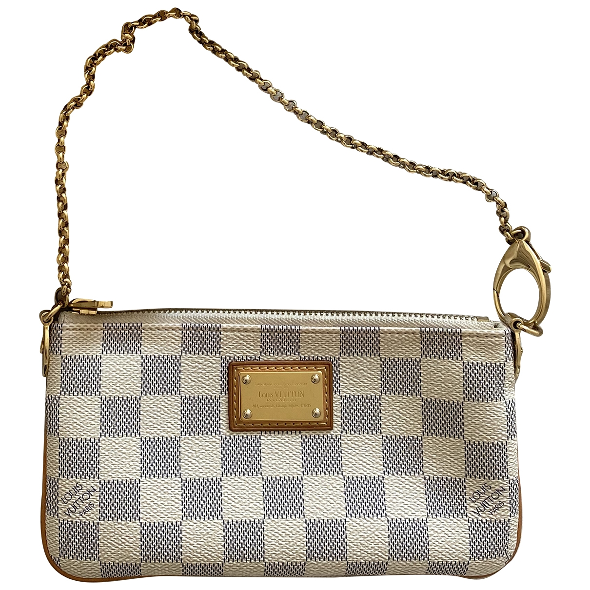 Louis Vuitton Milla Handtasche in  Bunt Leinen
