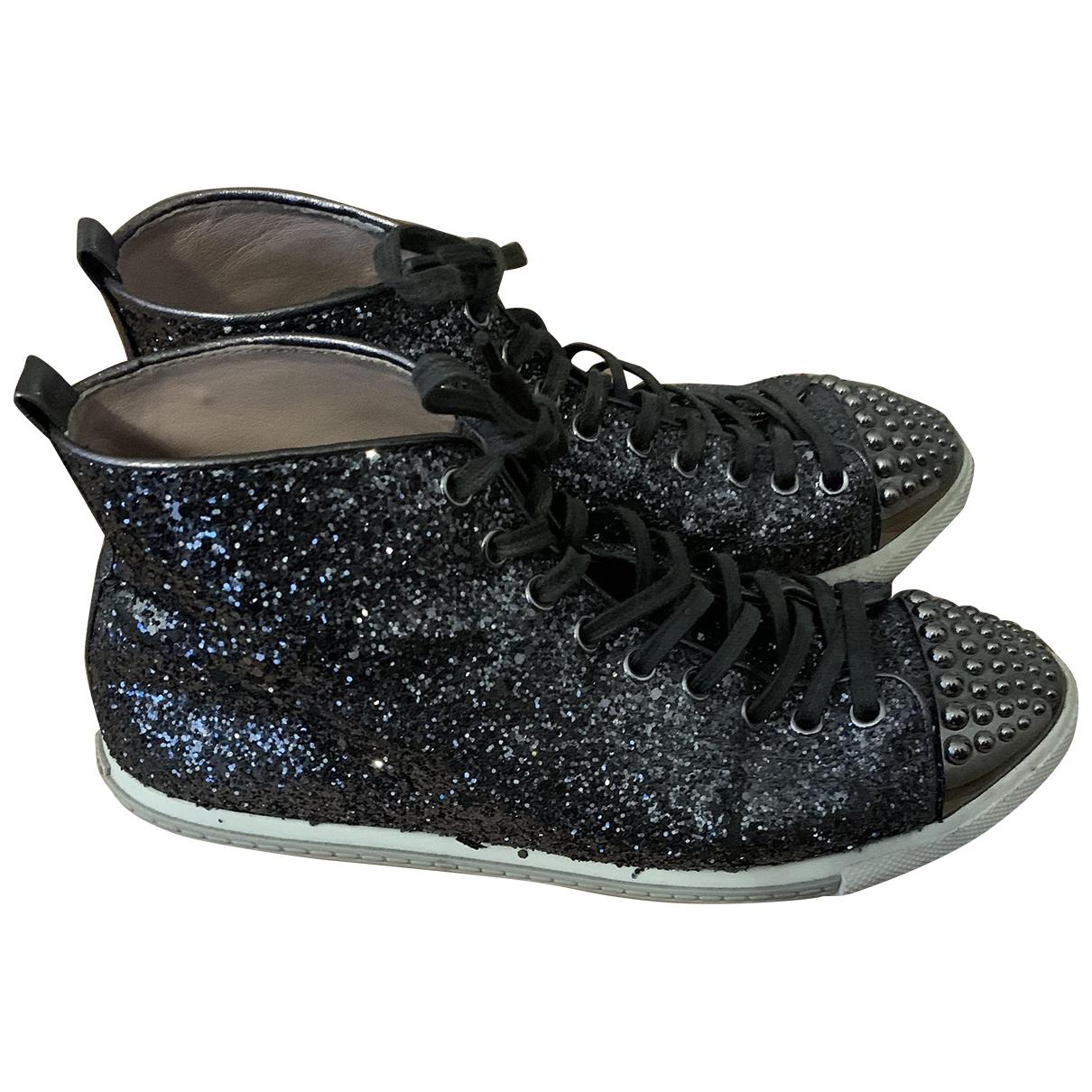 Miu Miu \N Sneakers in  Grau Mit Pailletten