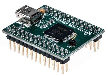 FTDI Chip , Mini-Module USB to Serial/FIFO (Quad) Development Board - FT4232H MINI MODULE