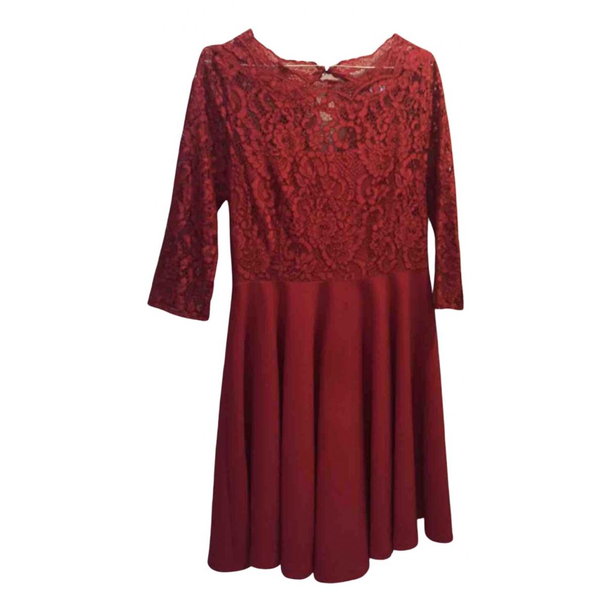 Claudie Pierlot N Red Lace dress for Women 40 FR
