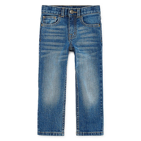 Okie Dokie Toddler Boys Stretch Straight Leg Jean, 2t , Blue