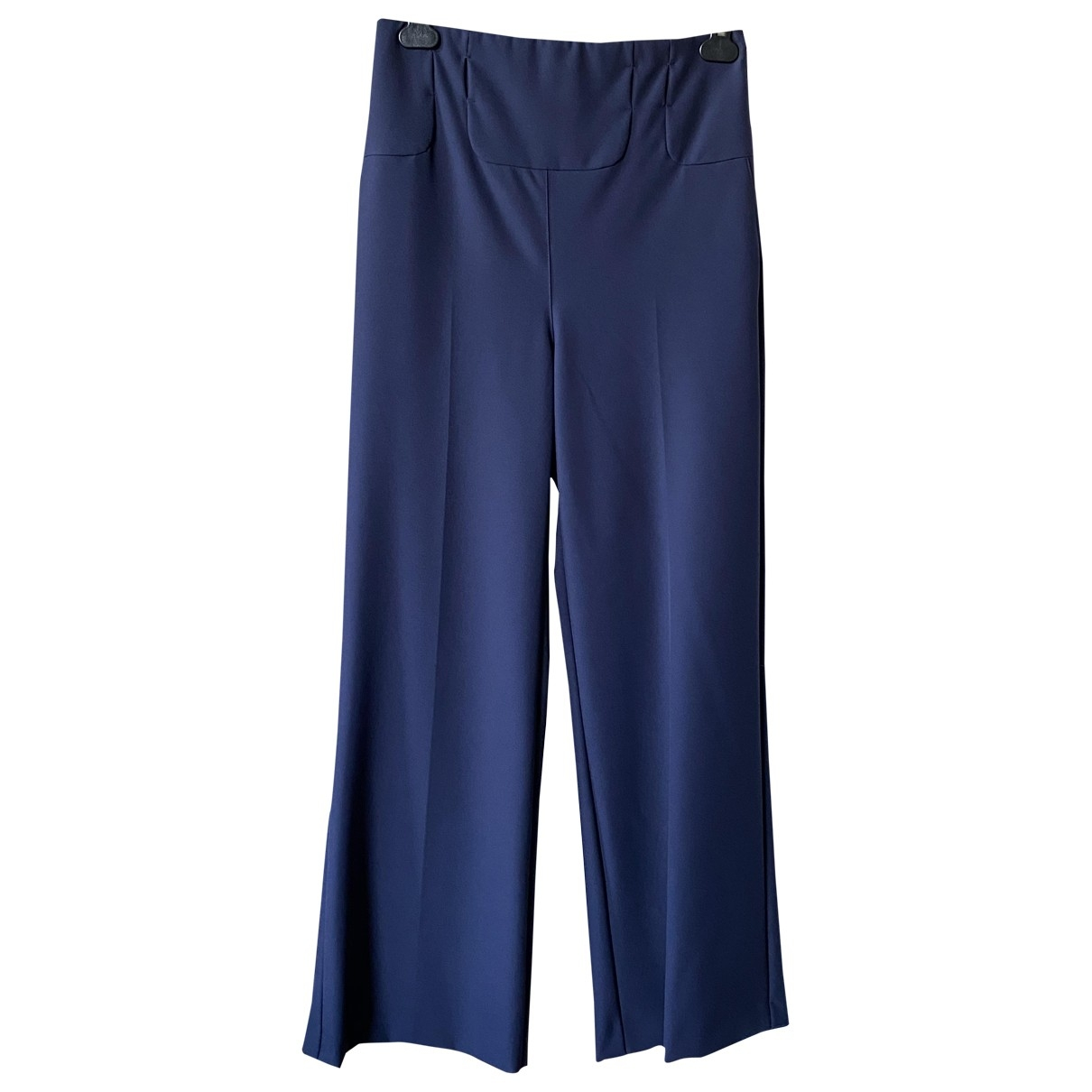 Patrizia Pepe \N Blue Trousers for Women 44 IT