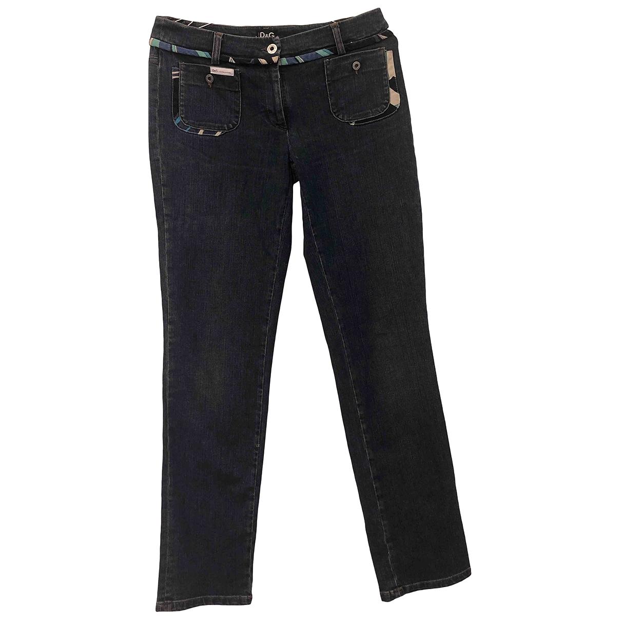 D&g - Jean   pour femme en coton - elasthane - bleu