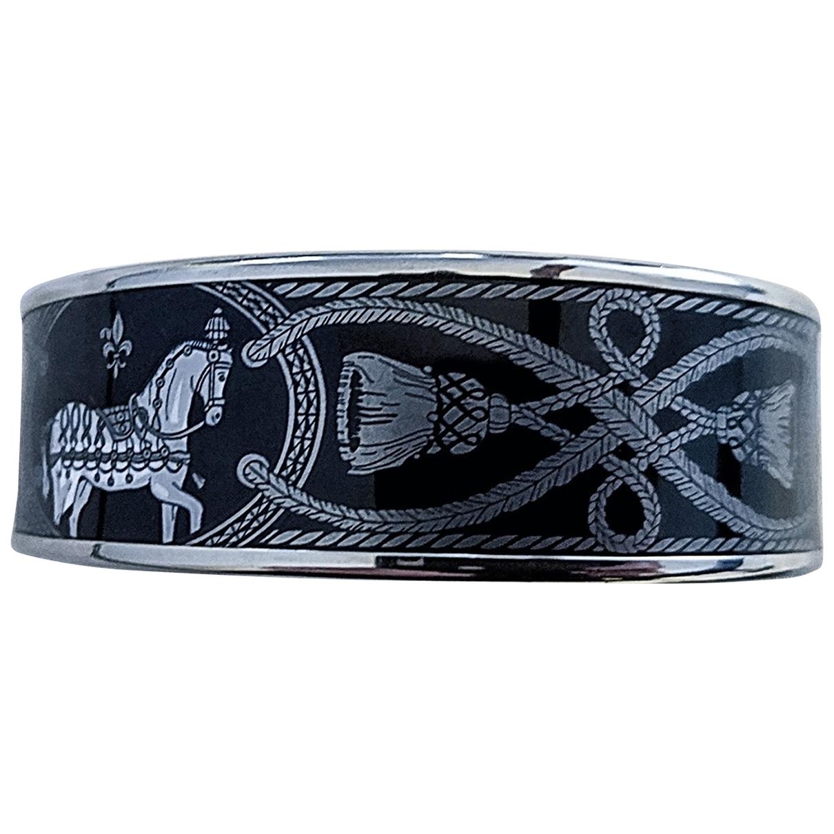 Hermes - Bracelet Bracelet Email pour femme en plaque or - noir
