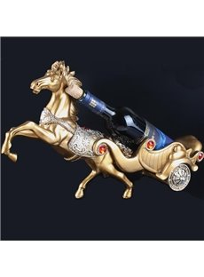 European Style High-end Horse Design Wine Rack