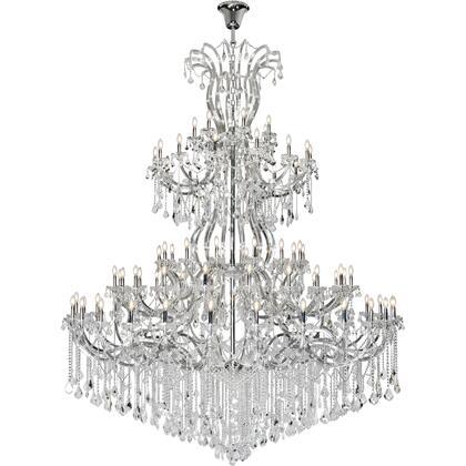 2800G120C/RC Maria Theresa 84 Light Chrome Chandelier Clear Royal Cut