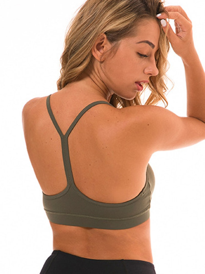 Ericdress Plain Y-Line Straps Shockproof Free Wire Sports Bras
