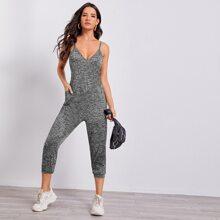 Cami Jumpsuit mit V Kragen und Taschen