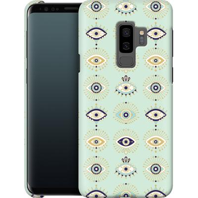 Samsung Galaxy S9 Plus Smartphone Huelle - Evil Eyes Mint von Cat Coquillette