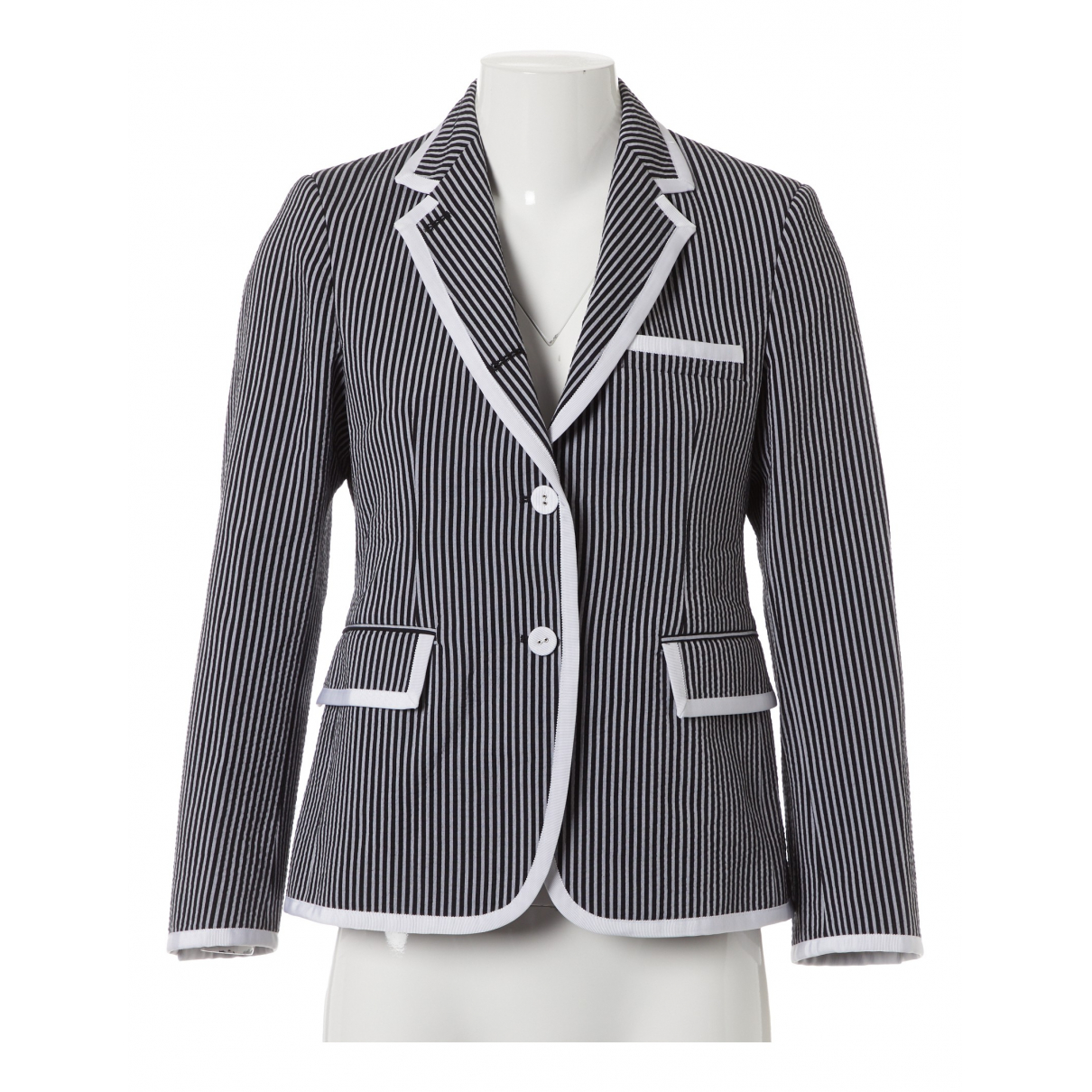 Thom Browne - Veste   pour femme en coton - noir