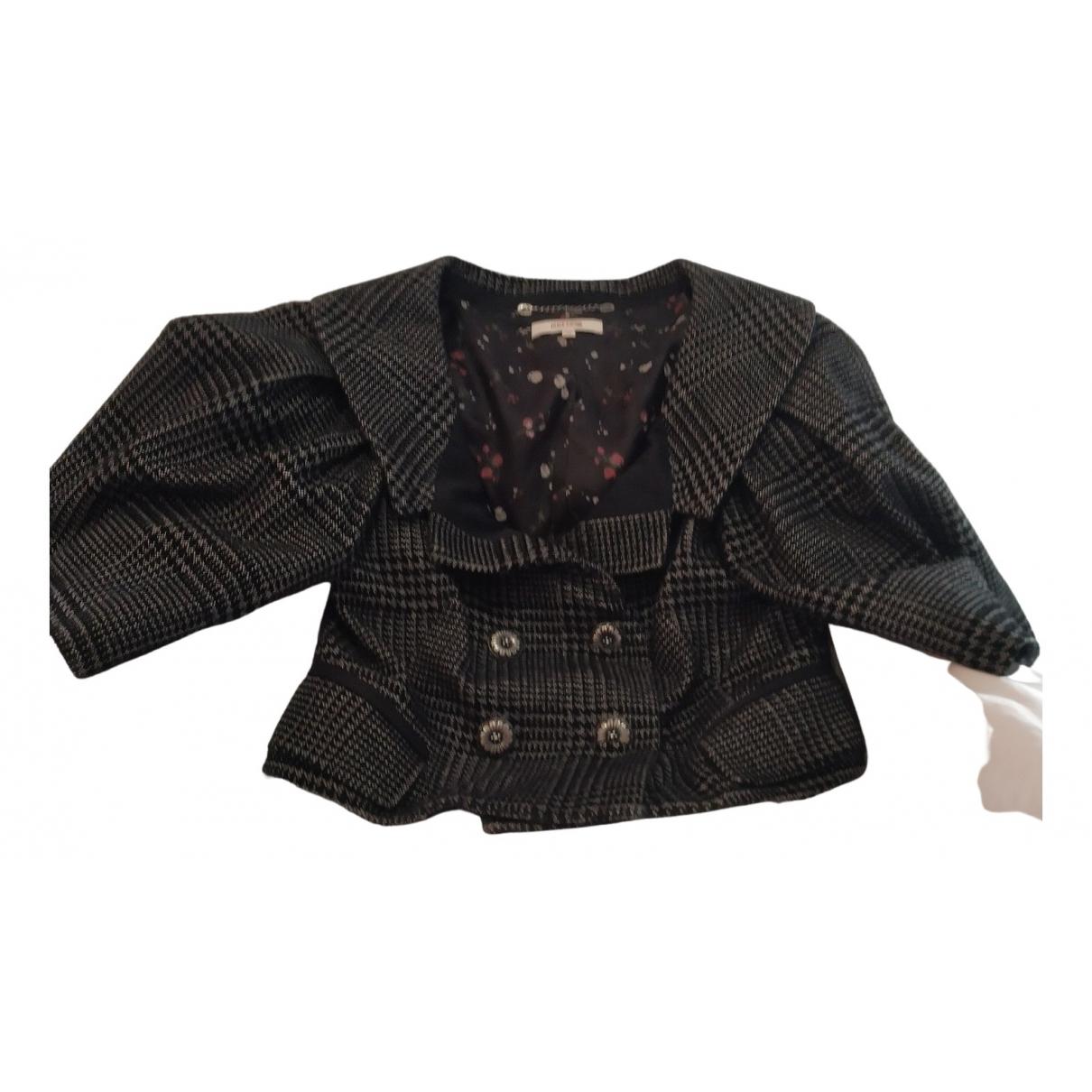 Kenzo - Veste   pour femme en laine - anthracite