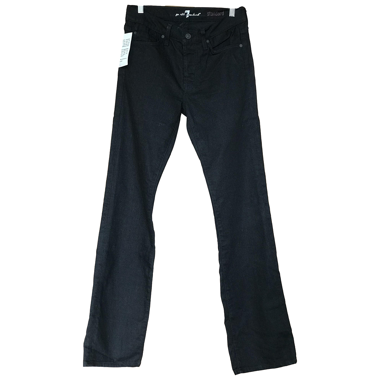 7 For All Mankind N Black Cotton - elasthane Jeans for Women 29 US