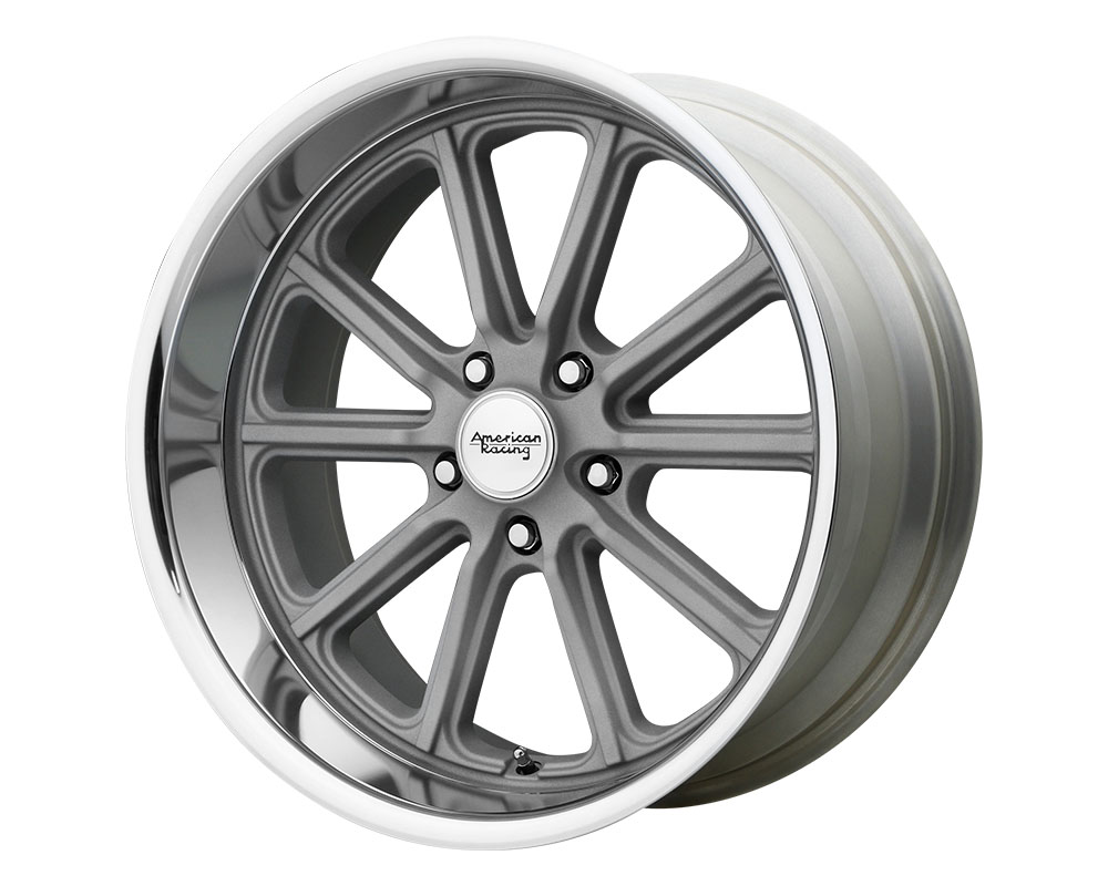 American Racing VN507 Rodder Wheel 18x8 5x5x114.3 +0mm Vintage Silver Diamond Cut Lip