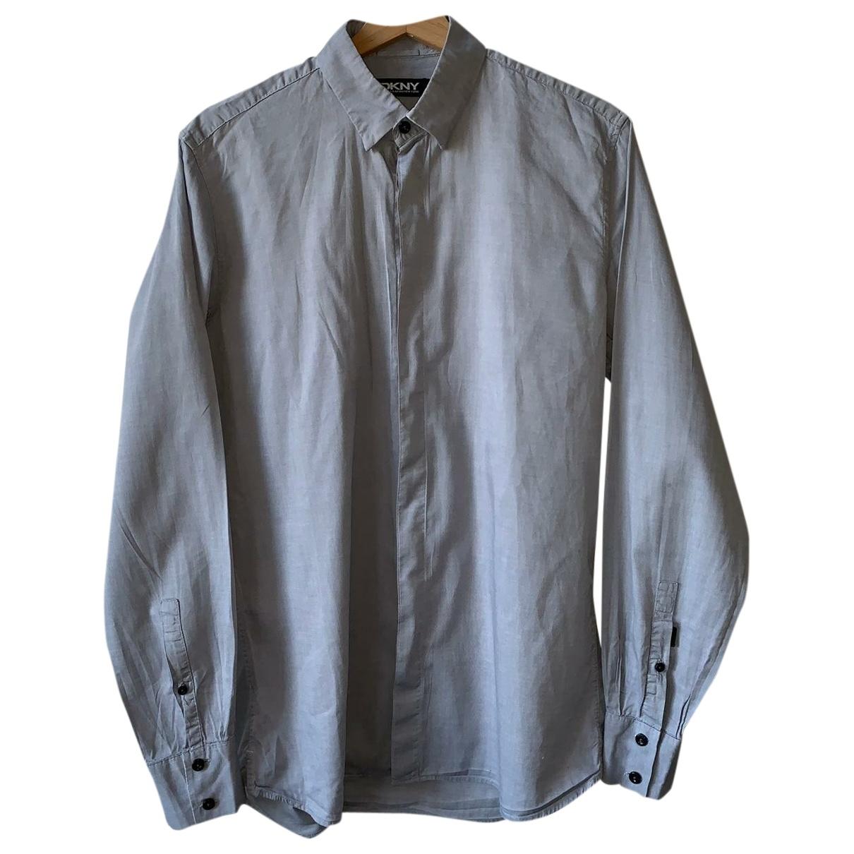 Dkny - Chemises   pour homme en coton - gris