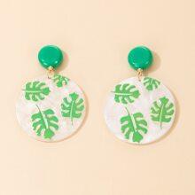 Palm Round Drop Earrings