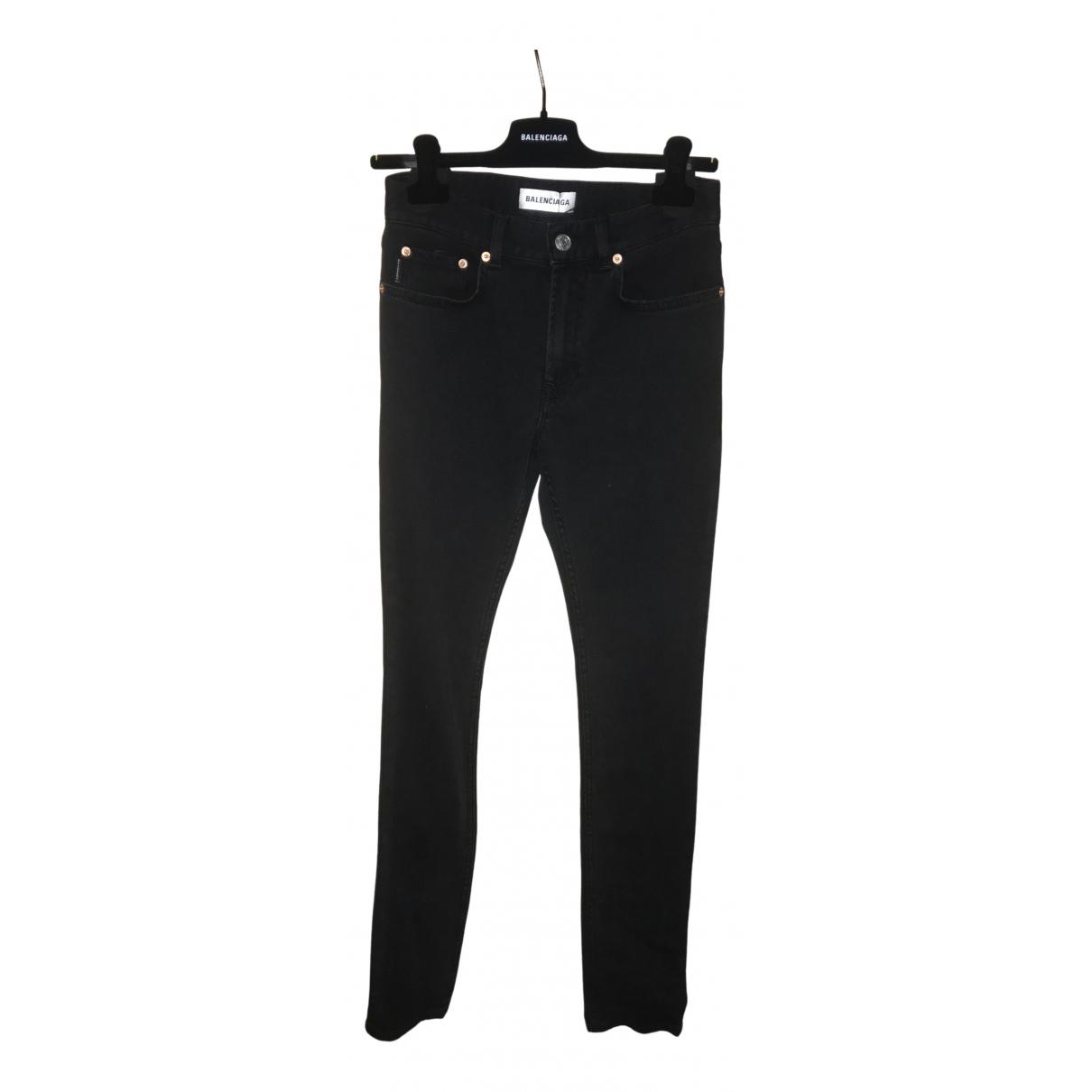 Balenciaga \N Black Denim - Jeans Jeans for Women 26 US