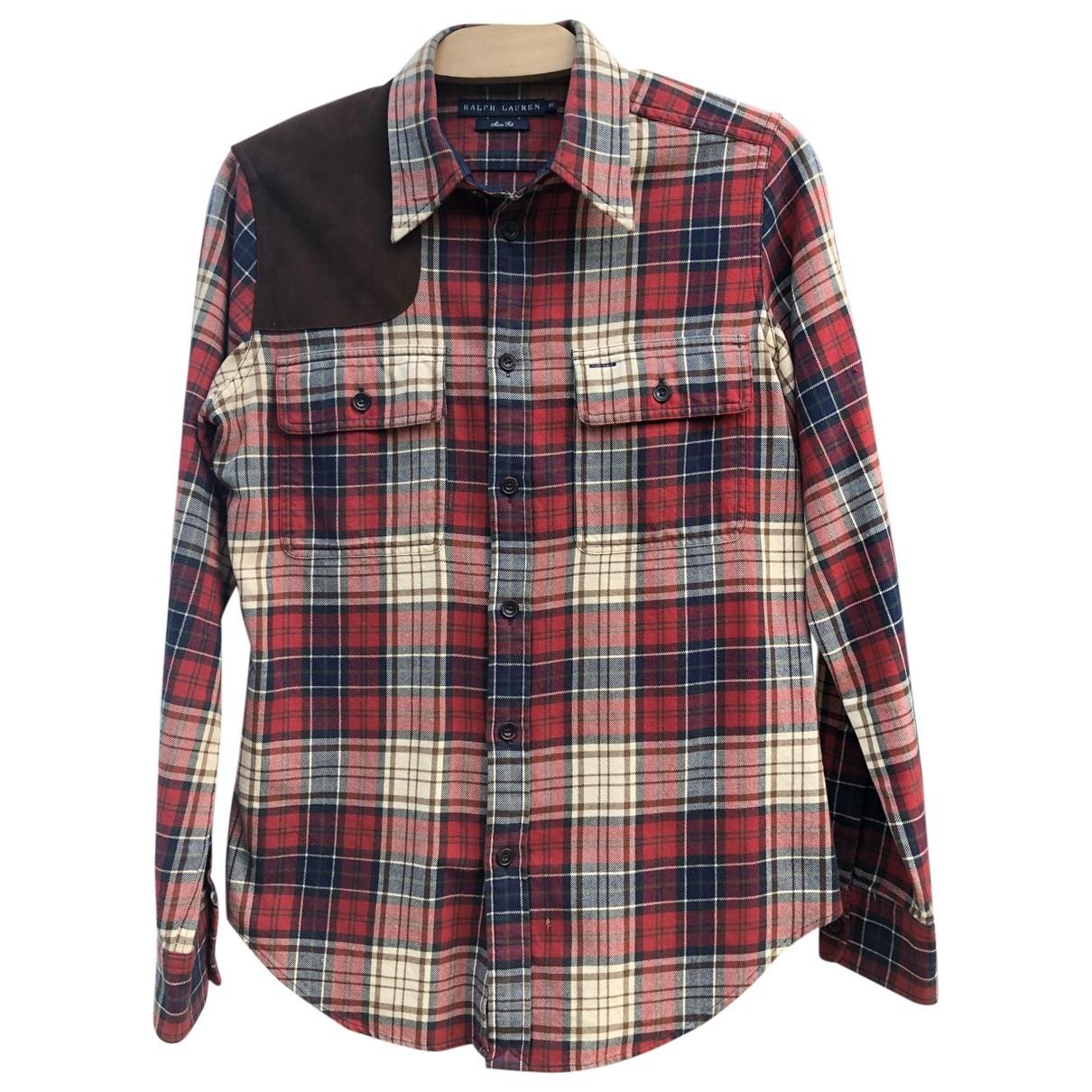 Ralph Lauren - Top   pour femme en coton - rouge
