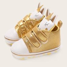 Baby Maedchen Sneakers mit Klettverschluss