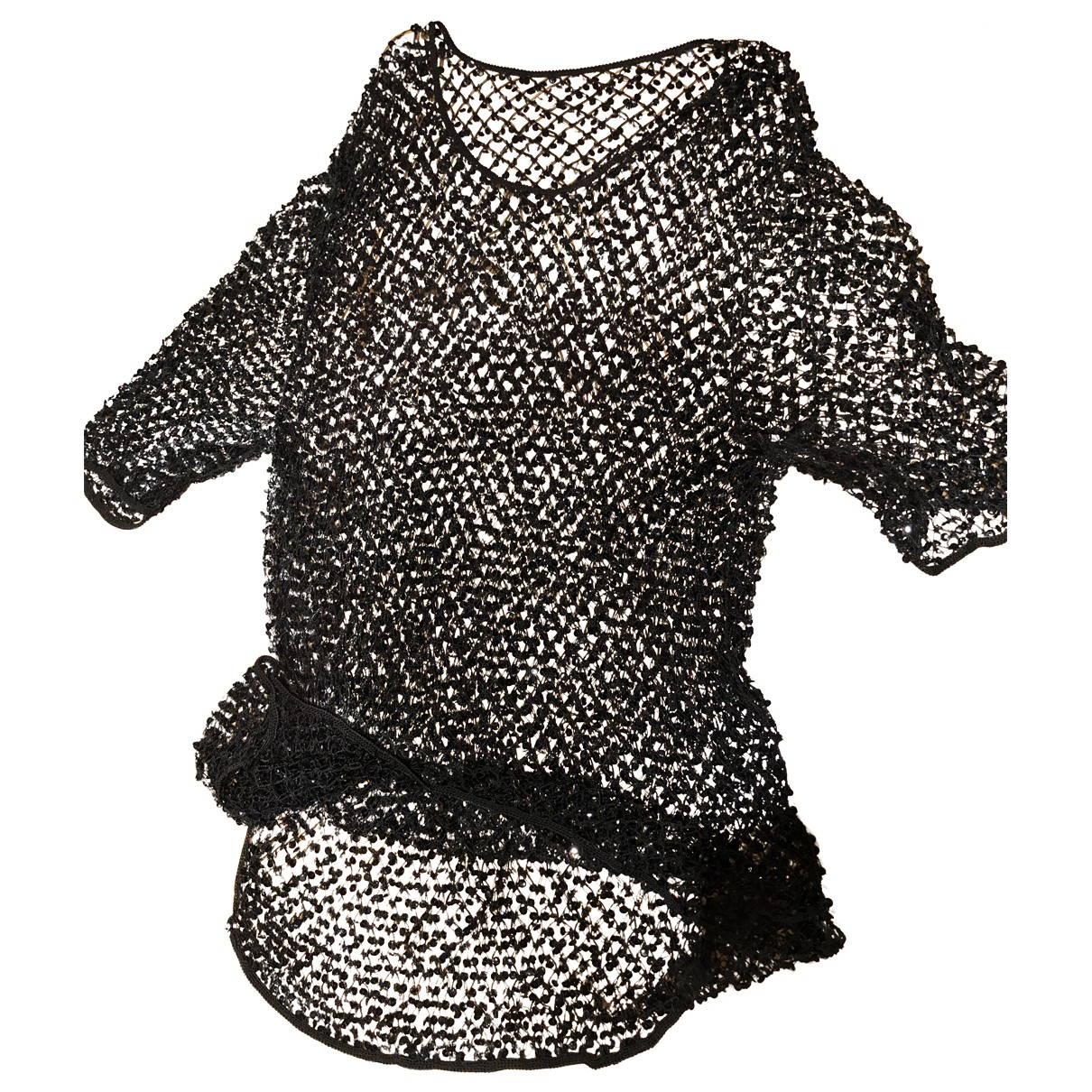 Non Signe / Unsigned \N Kleid in  Schwarz Mit Pailletten