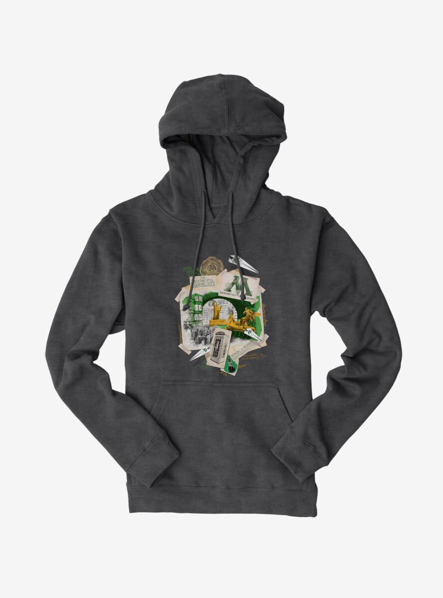Harry Potter Ministry Of Magic Collage Hoodie