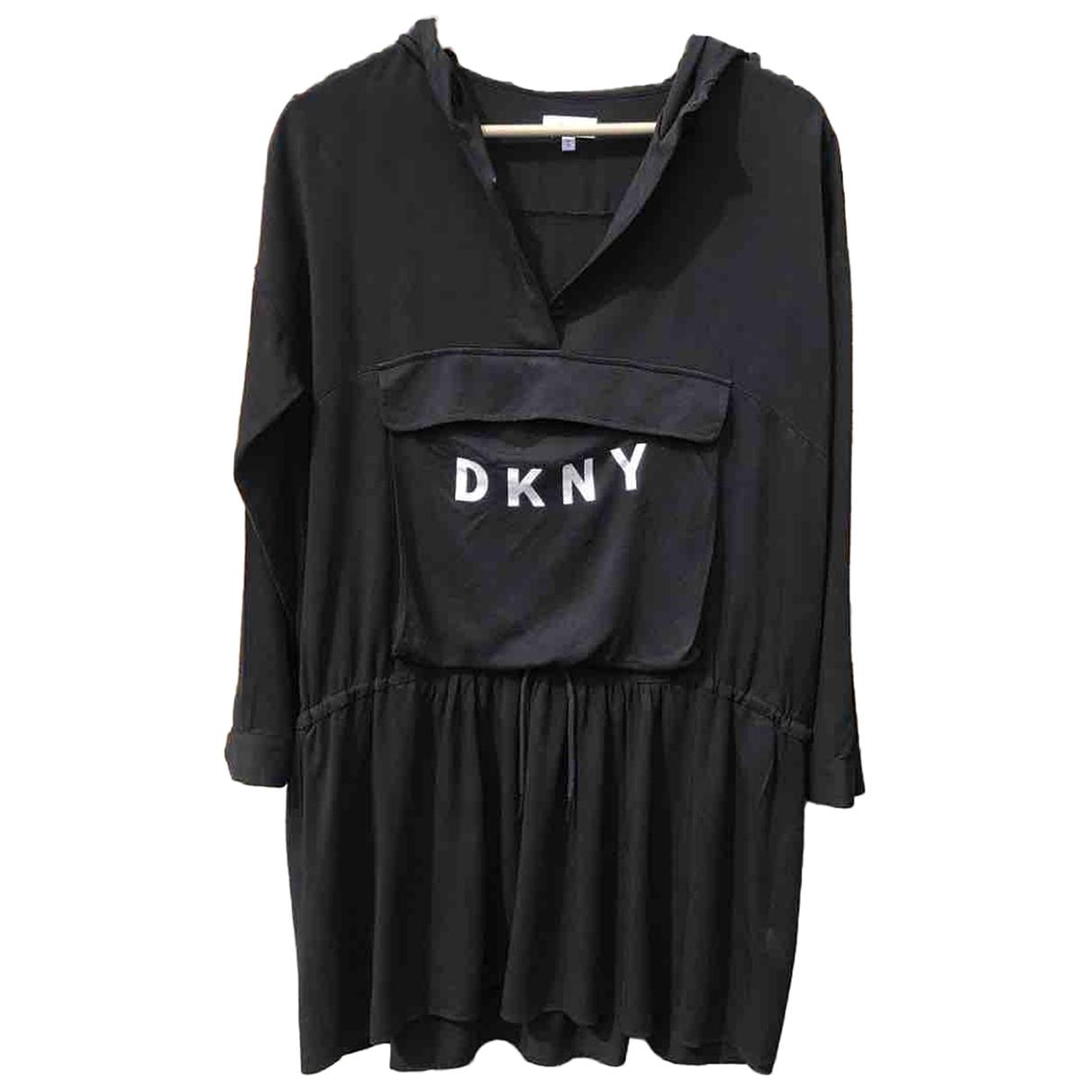 Dkny \N Kleid in  Schwarz Viskose