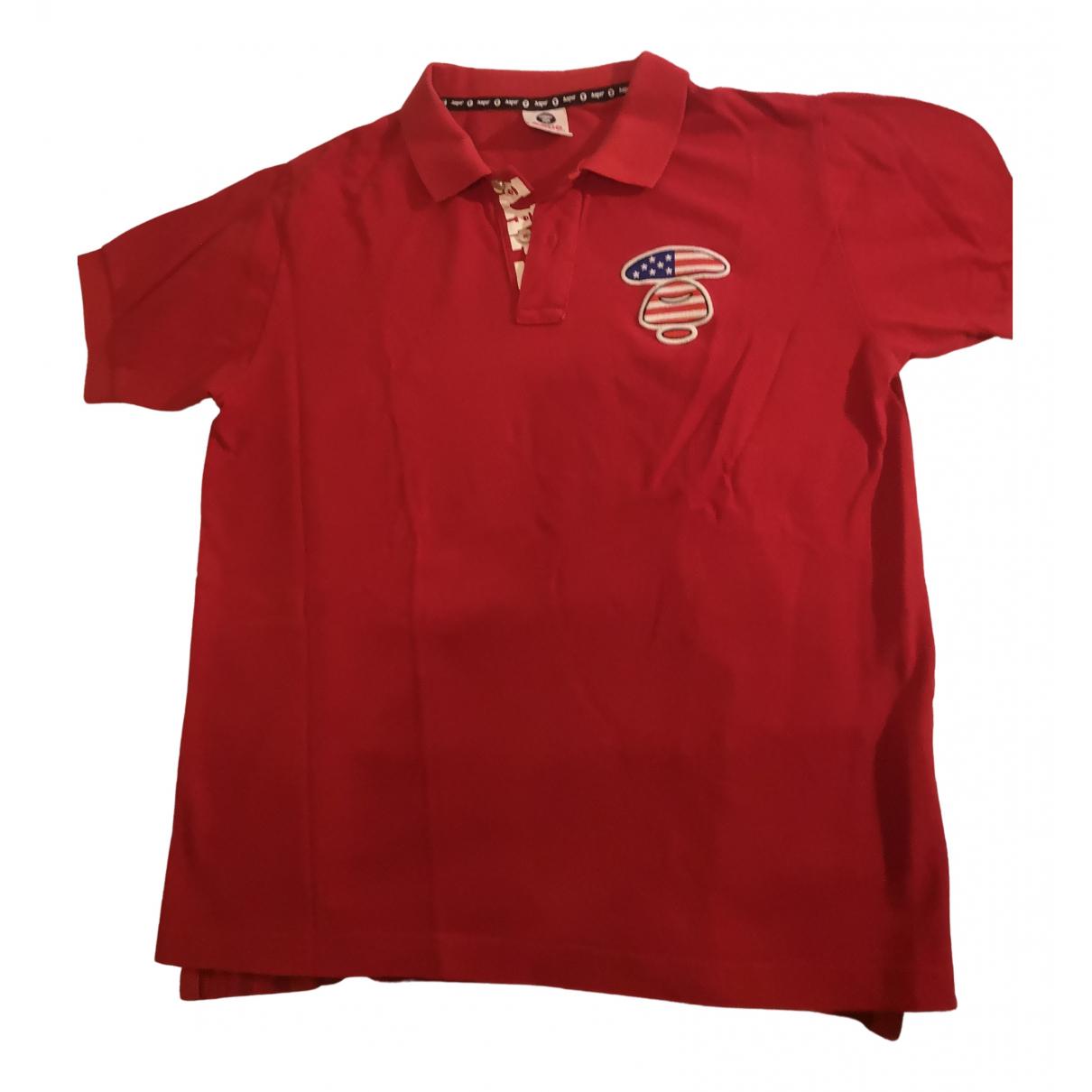A Bathing Ape \N Poloshirts in  Rot Baumwolle