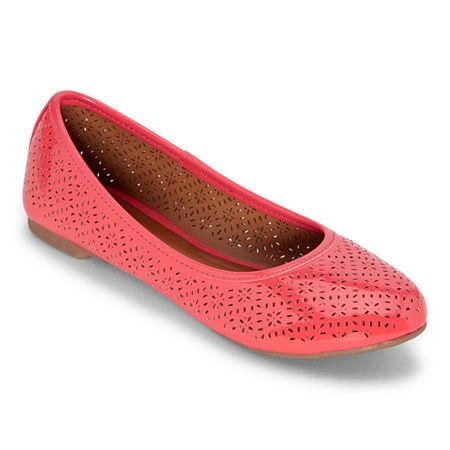 Arizona Womens Maci Slip-on Closed Toe Ballet Flats, 7 1/2 Medium, Pink