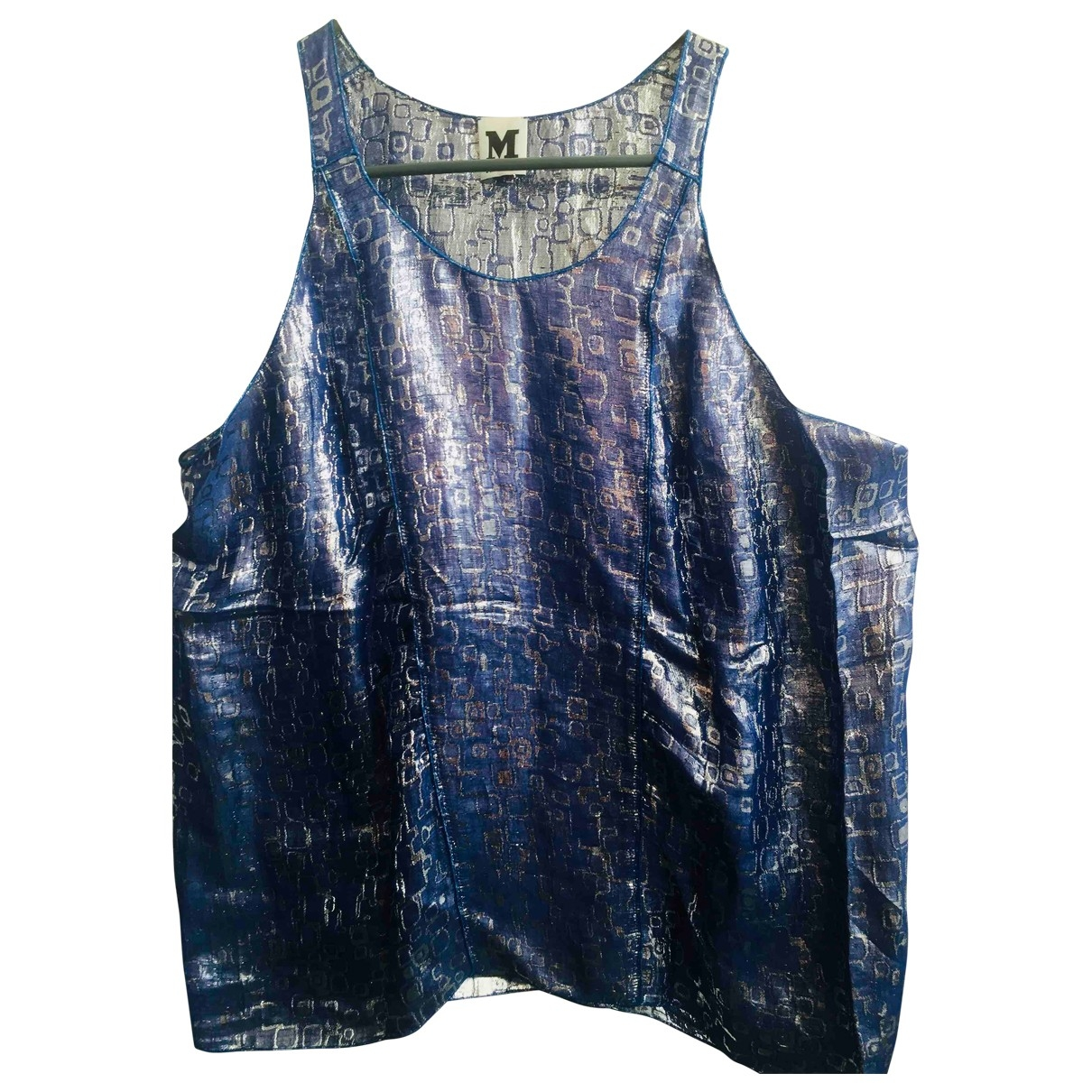 M Missoni \N Top in  Blau Viskose