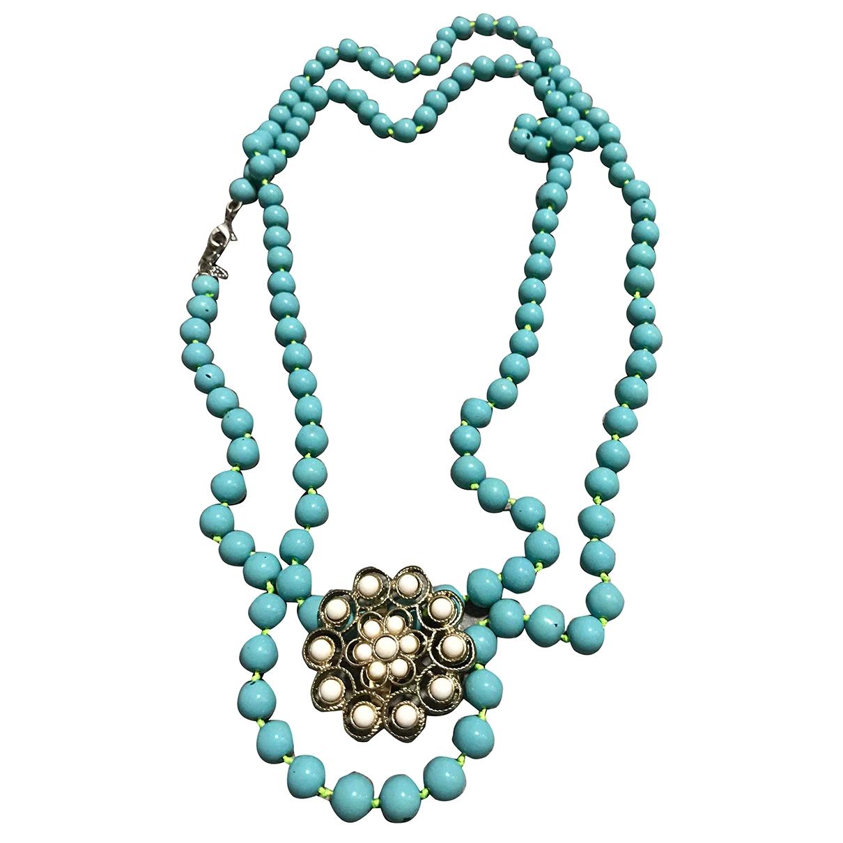- Collier Motifs Floraux pour femme - turquoise