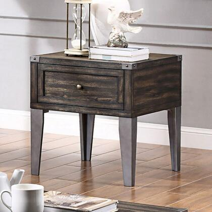 Piedmont Collection CM4387E 25 End Table with Storage Drawers  Wooden Glide and Angled Legs in Dark