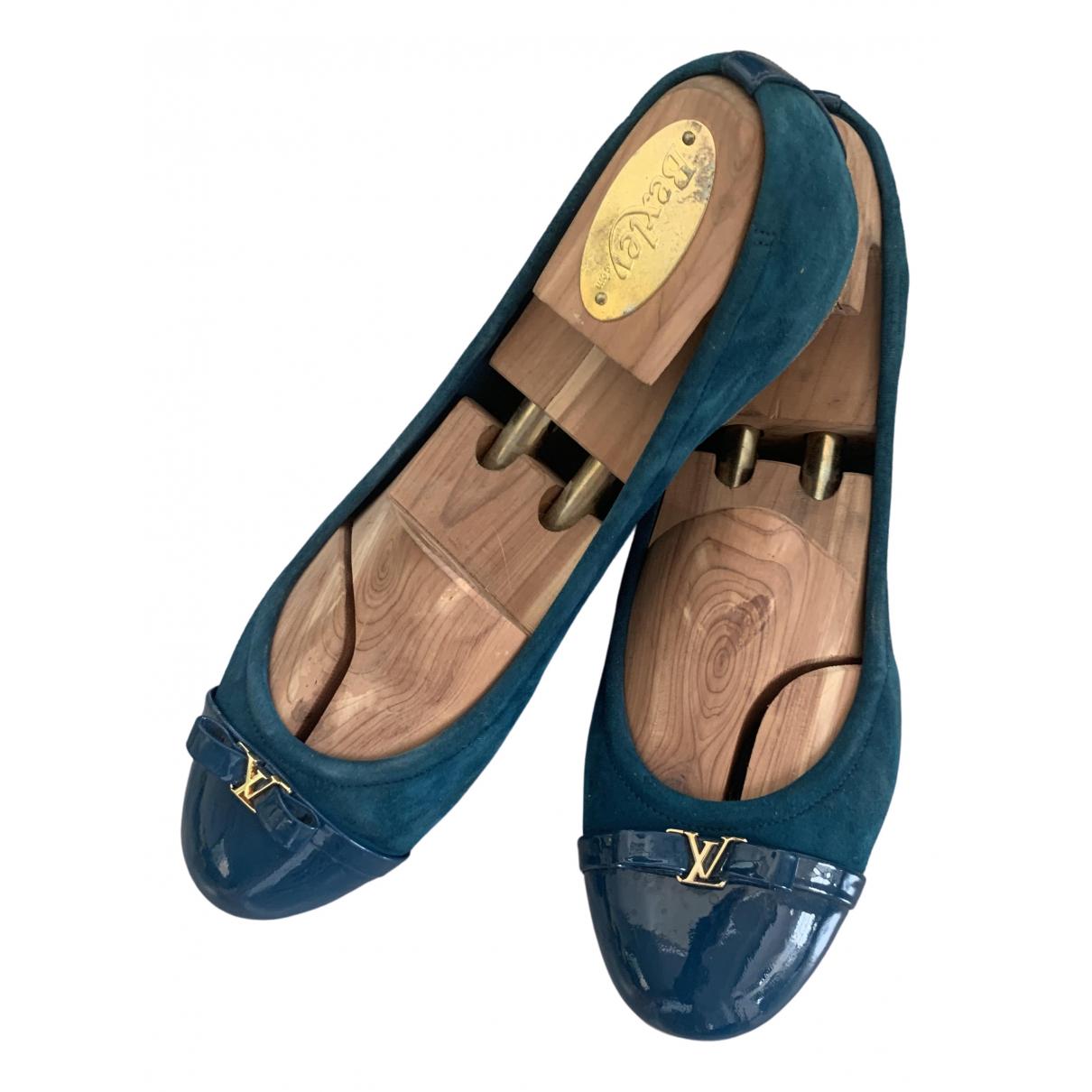 Louis Vuitton \N Blue Suede Ballet flats for Women 39 EU