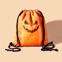 Halloween Pumpkin Drawstring Backpack