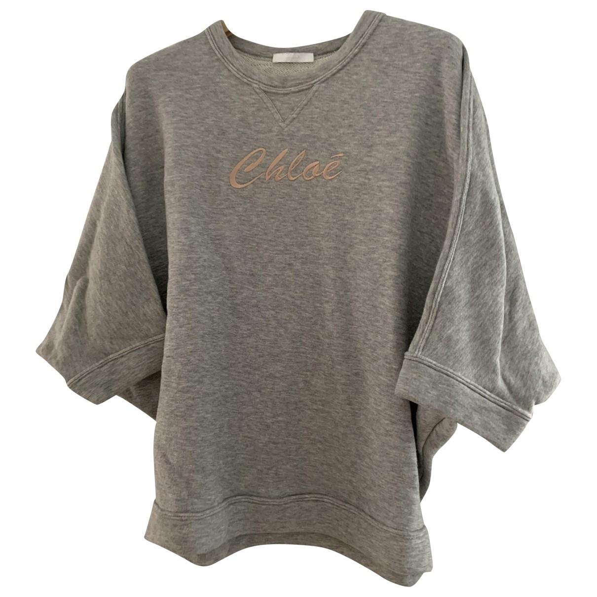 Chloé \N Grey Cotton Knitwear for Women 38 FR