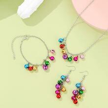 4 piezas set joya de niñas con diseño de campana